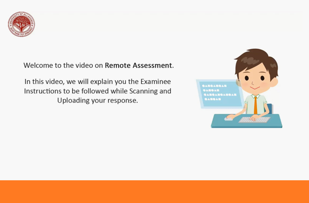 Demo video link for Online Examinations